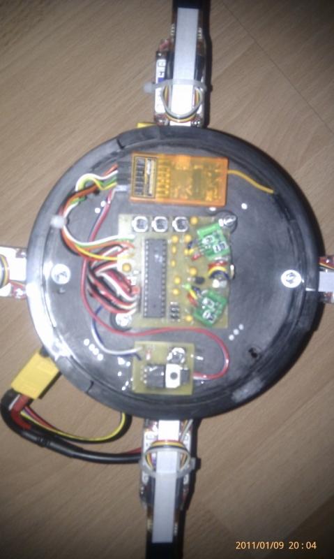 QuadroCopter - X konfiguracia